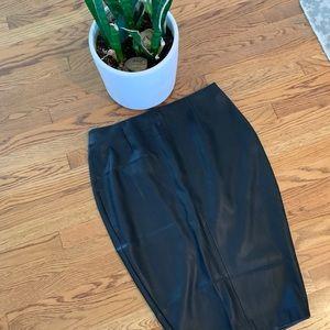 Zara Skirts - Zara Faux Leather Pencil Skirt